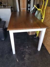 Solid pine dining table and benches