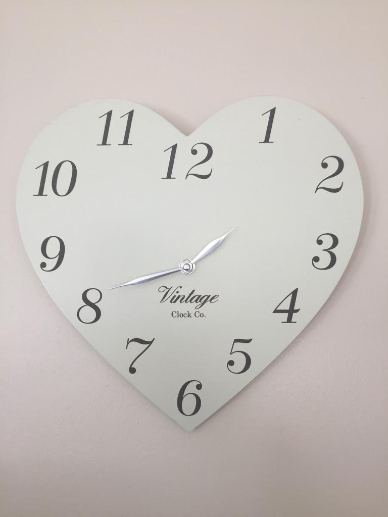 Cream Heart Wall Clock In Norwich Norfolk Gumtree