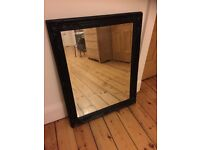 French style black wall mirror vintage antique