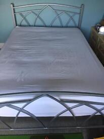 Double Silver bedframe and Sealy Mattress