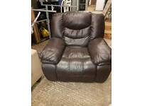 Reclining Leather armchair