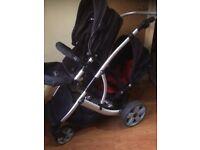 Twin double / buggy stroller pram