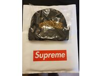 Supreme Loose Gauge Arc Beanie Black FW17 Week 2