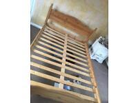Pine bed frame
