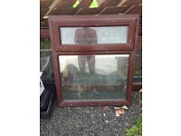 Mahogany pvc bathroom window.