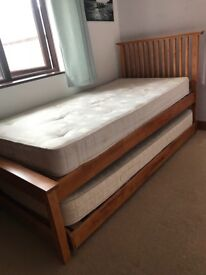 John Lewis single bed with pull out single - OPEN TO OFFERS