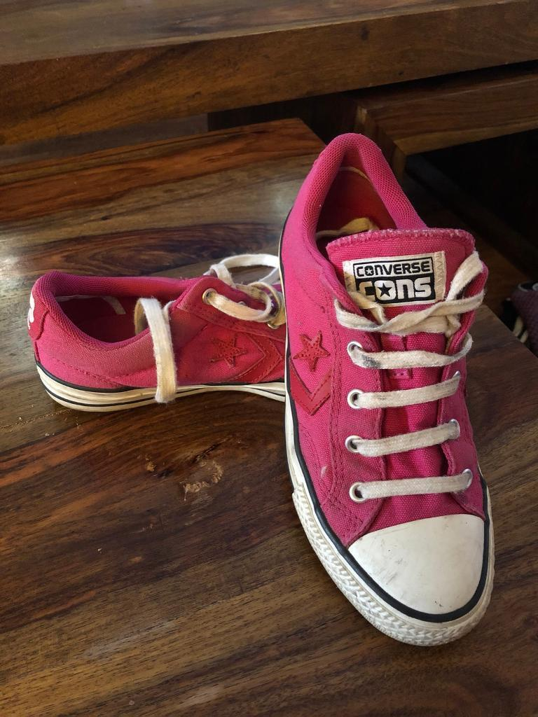 cf0feba65baf spain converse trainers gold 660046c all star ox youth 9268d a91d7  reduced  ladies girls converse trainers size 4 6c0c2 09adb