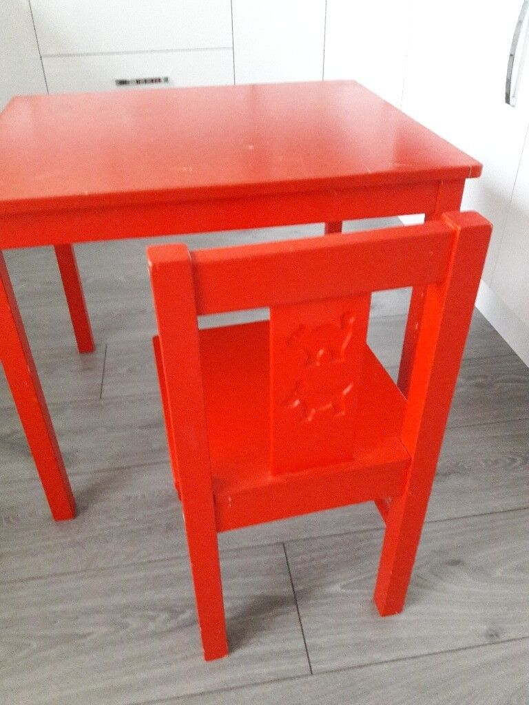 Kids Table And Chair Red Ikea In Bilston West Midlands