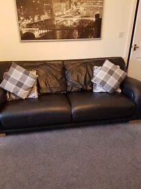 Sofa, chair and puffy