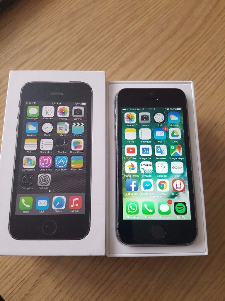 iPhone 5s Black Unlocked great conditionin Surrey Quays, LondonGumtree - It is available as long as you can read this add. It will be removed from gumtree instantly after transaction. It comes in the box with charger and lighting cable. There are some tears around the edges as you can expect from used phone but nothing...