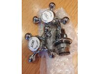 Chrome victorian style basin tap parts by Imperial.