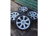 """Genuine BMW SET OF ALLOY WHEELS AND TYRES 17"""""""