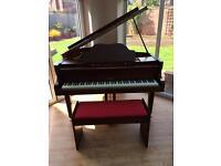 Kemble baby grand piano