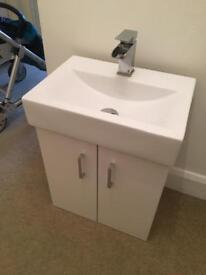 Sink vanity with tap