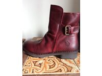 Red FLY London Boots. Brand New ankle boots Size 6.