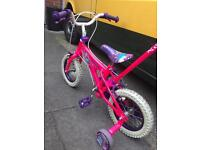 "Kids bike - Girls Pink bike (12.5"") with stabilisers + Parent Control"