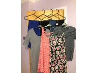 Size 14 maternity bundle from next, new look, mothercare; jeans dress tee shirt
