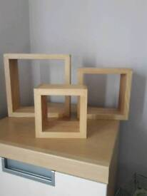 Set of 3next wall shelves