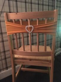 100 gold chair sashes/bands
