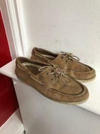Timberland tan leather boat shoes uk 8