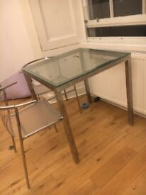 Glass table and Perspex chairs