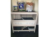 Large 2 level indoor guinnea pig / rabbit hutch in excellent condition
