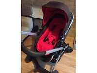 Chicco urban Pram with 3 colour packs .