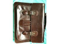 RJR John Rocha Men's Designer D.Brown Leather Bag