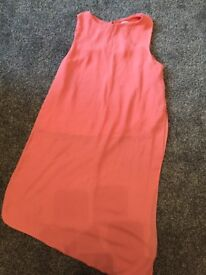 River island pink top age 12