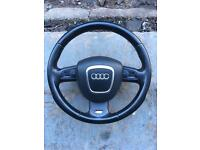Audi s line steering wheel & air bag