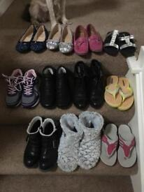 11 pairs Ladies shoes selection. Size 4.