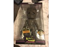 limited edition groot figure from guardians of the galaxy, with code, never been opened