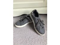 Grey casual Office trainers UK 39