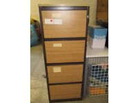 Wood 4 Draw Filing Cabinet , Garage ,workshop, Shed, Office Etc With Key