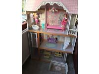 Large dolls house great for Barbie type dolls