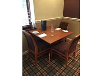 4 seat square dining table (chairs available)