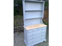 welsh style dresser shabby chic vintage solid pine