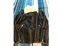 Faux leather jacket by Glamorous. Size Small