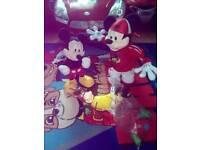 Micky Mouse toys.