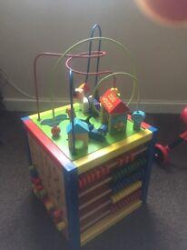 Wooden children's toy block