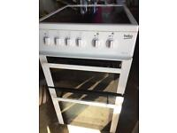 Beko electric double oven/grill cooker. 1 year old, in garage ready for collection
