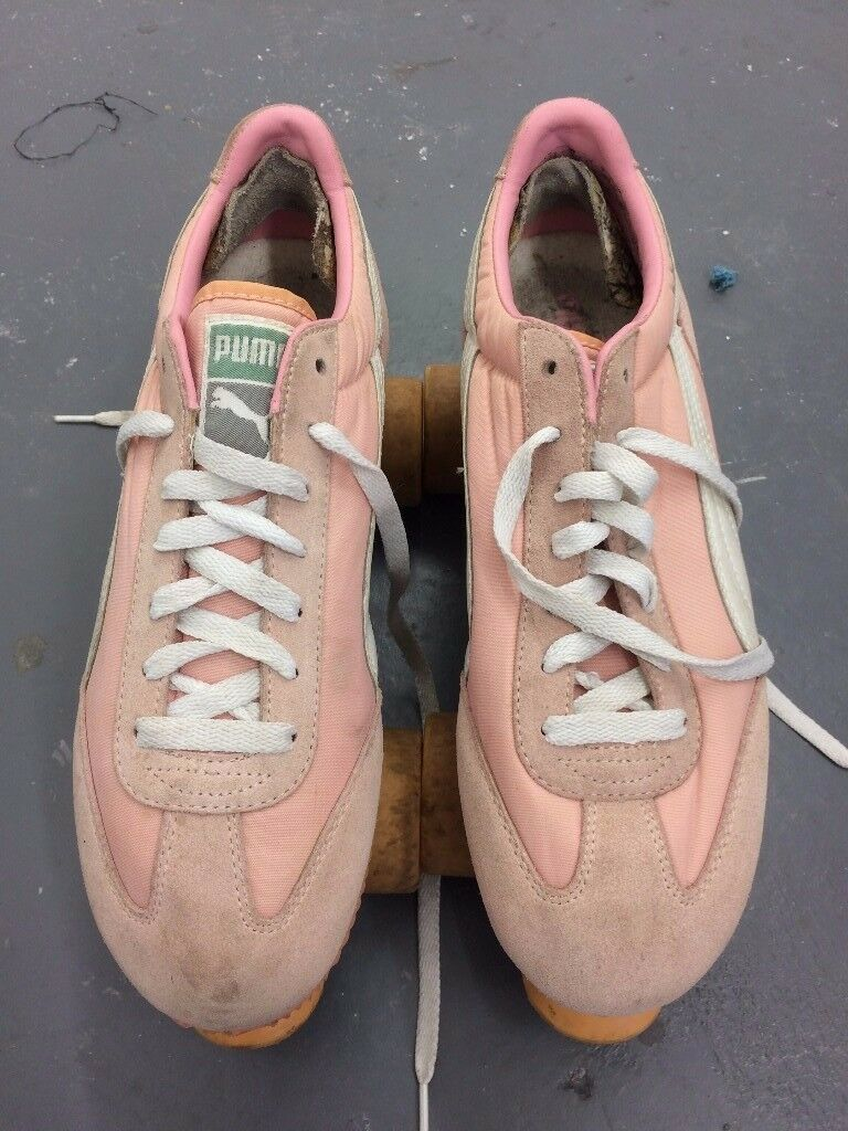 Retro Pink Puma Roller Skates Size 8