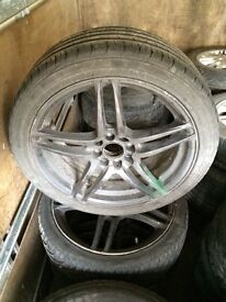 Multi Fit 4 Stud Alloy wheels and tyres