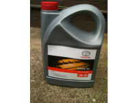 New Unopened Genuine Toyota 5 Litre Motor Oil 5w30 ( For Petrol engines)