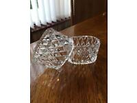 "TYRONE CRYSTAL - Set Of 2 Napkin Rings - ""Wexford"""