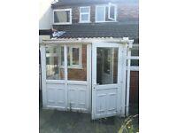 White UPVC Porch