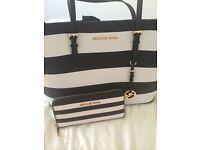 Michael Kors Jet Set handbag and matching new purse