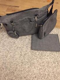 Stokke changing bag in black melange colour