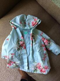 Blue monsoon girls coat