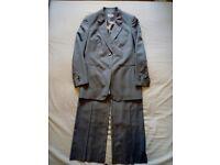 Ladies M&S Grey 100% Pure New Wool Trouser Suit